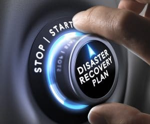 Disaster Recovery services button by complete network