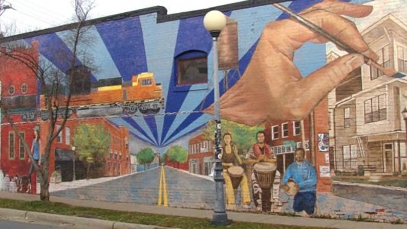 noda north carolina wall mural art