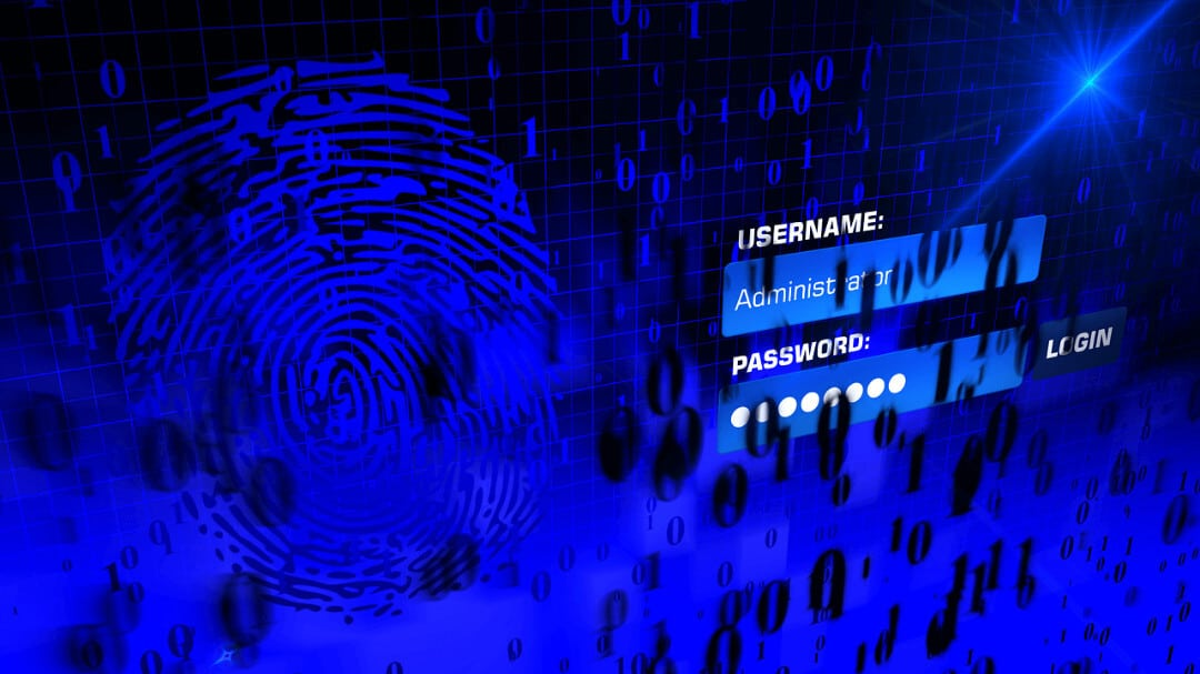 fingerprint and password for cybersecurity services and protection